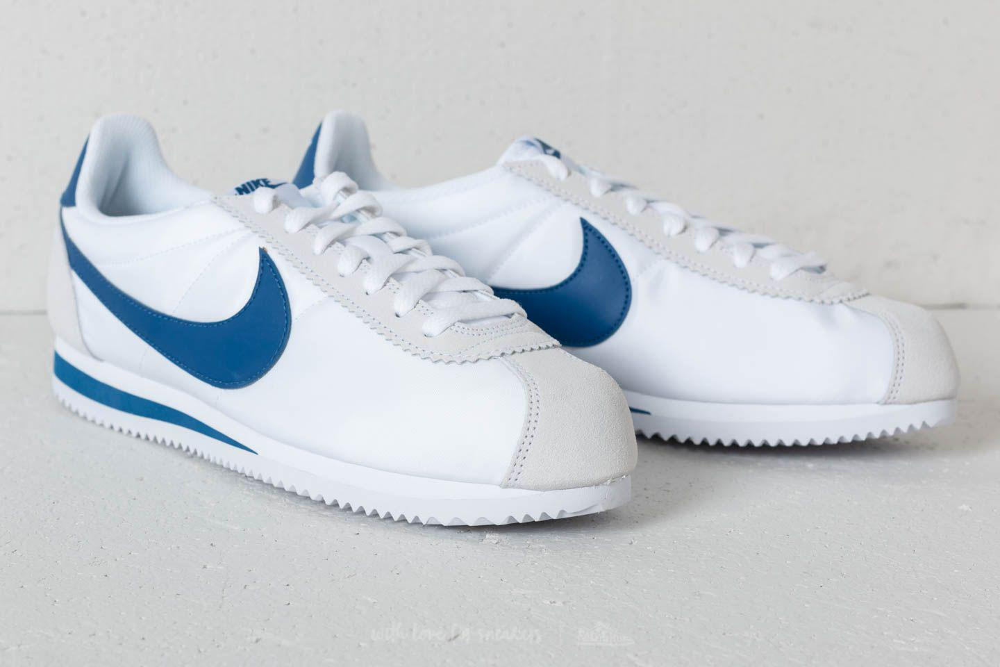 the latest 3203a 4ef57 Nike - Classic Cortez Nylon White Gym Blue for Men - Lyst. View fullscreen