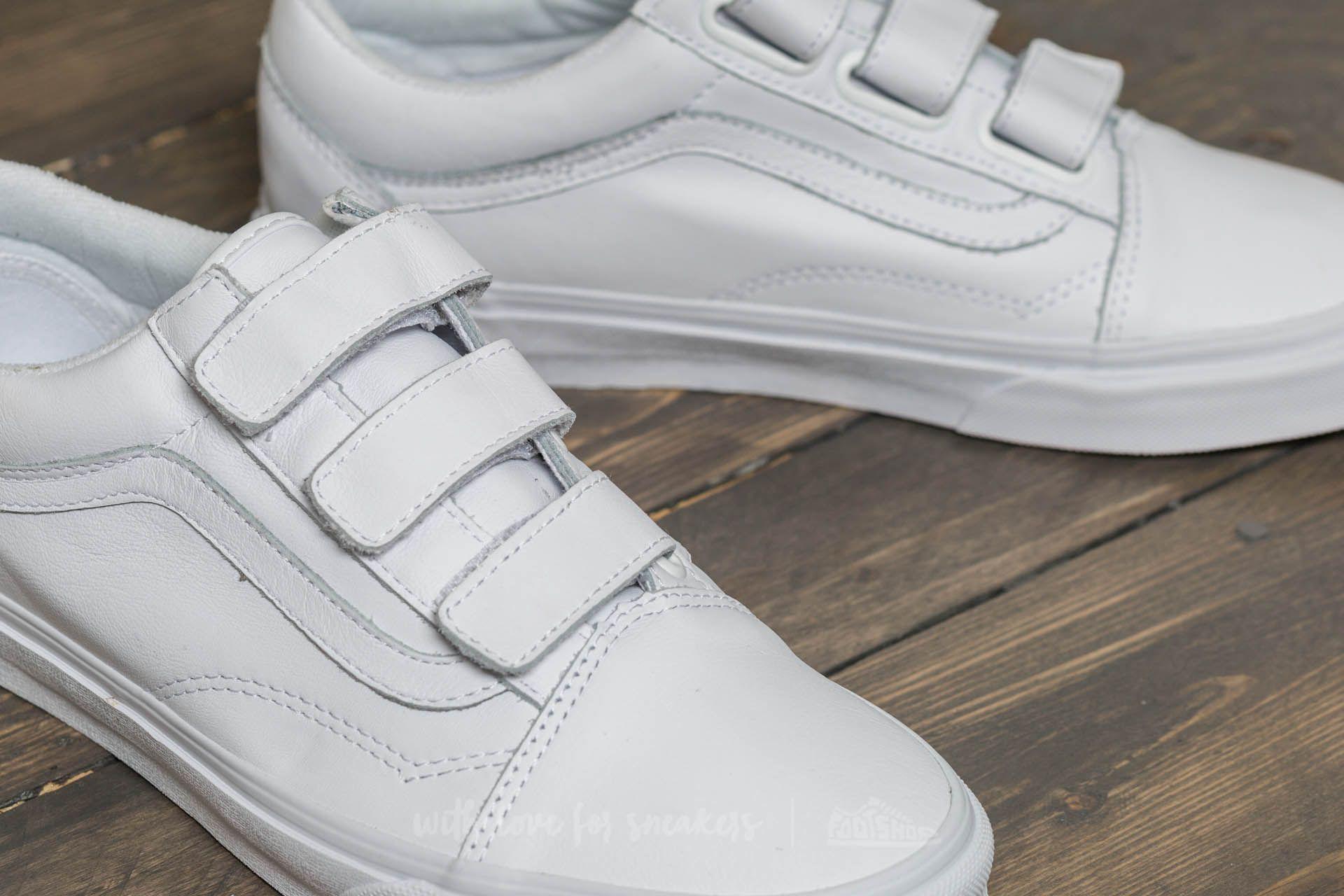 f25fa008662 Lyst - Vans Old Skool V (mono Leather) True White for Men