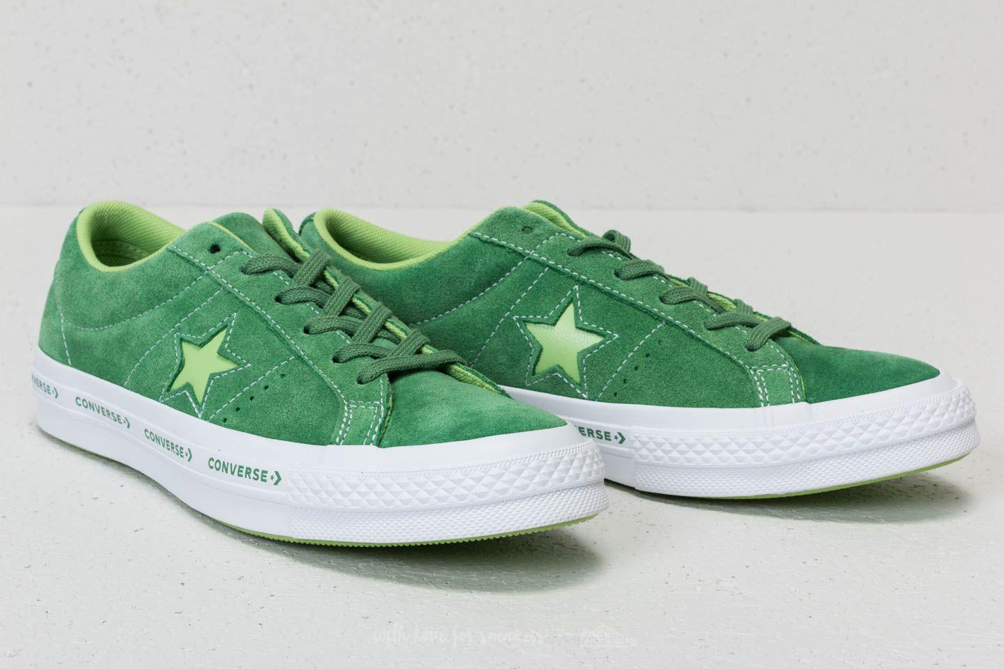 027620cf8e0a Lyst - Converse One Star Ox Mint Green  Jade Lime  White in Green ...