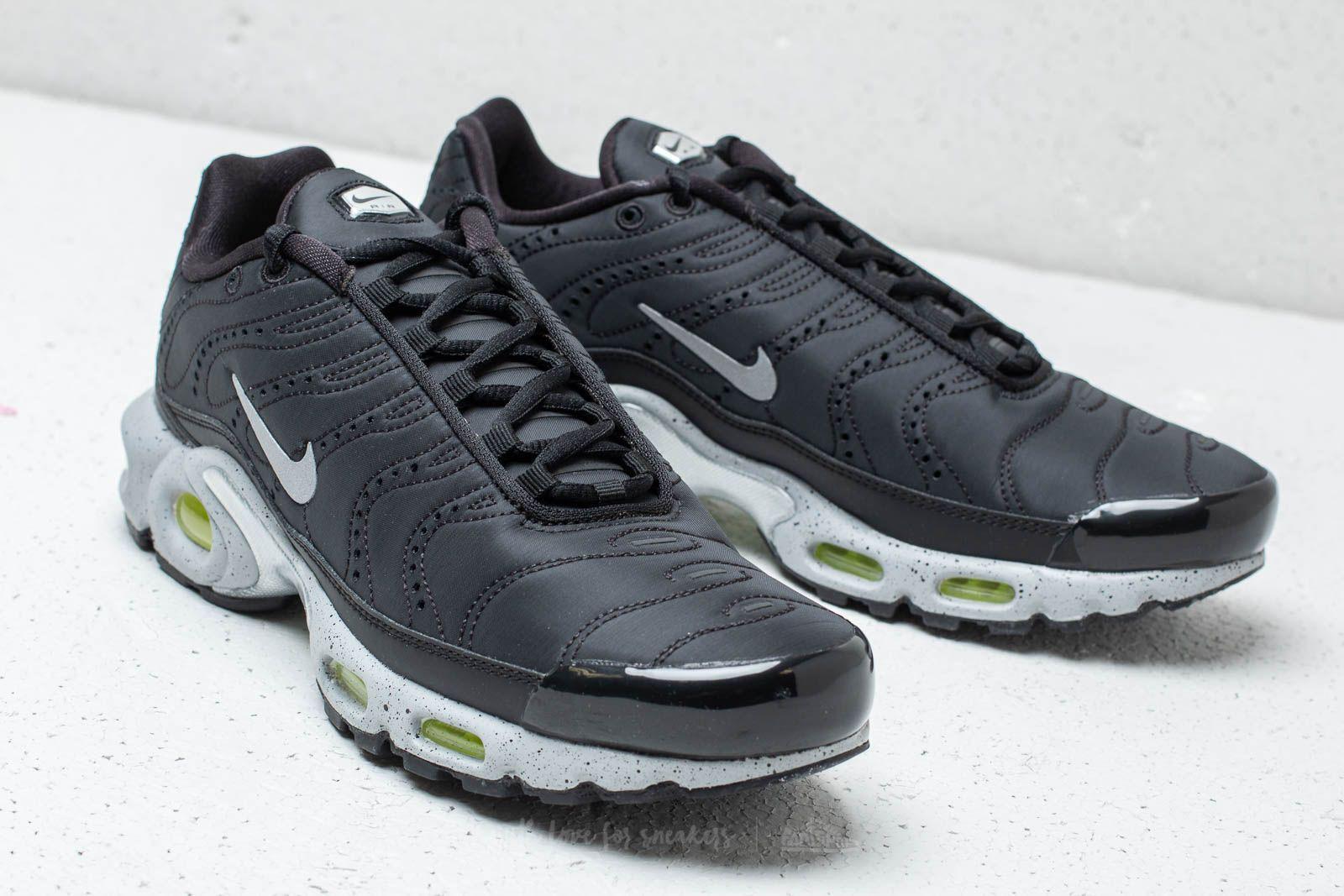2517038dfa Nike Air Max Plus Premium Black/ Matte Silver-volt in Black for Men ...
