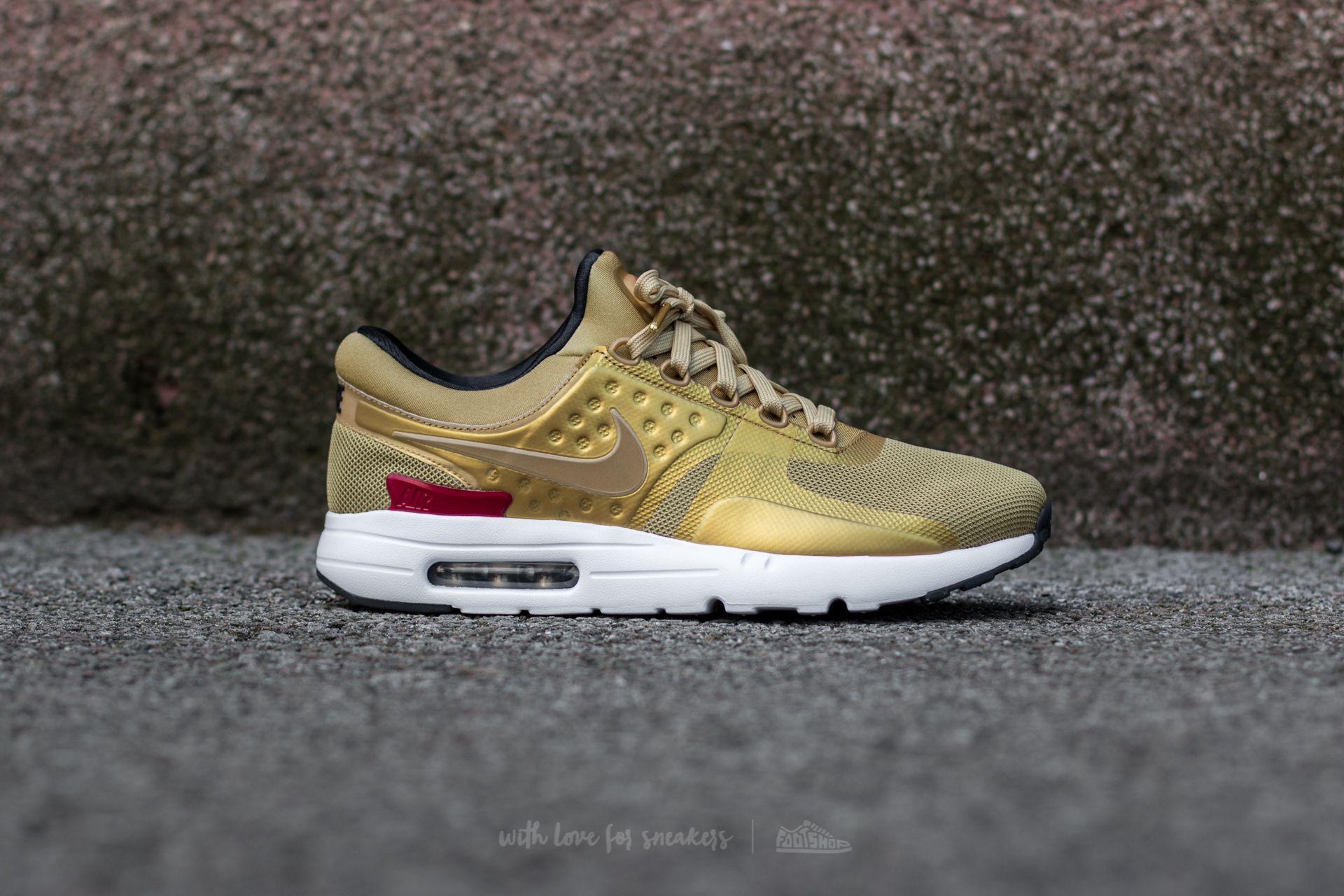 online retailer e4e5d 6750c Nike Air Max Zero Qs Metallic Gold  Varsity Red in Metallic for Men ...