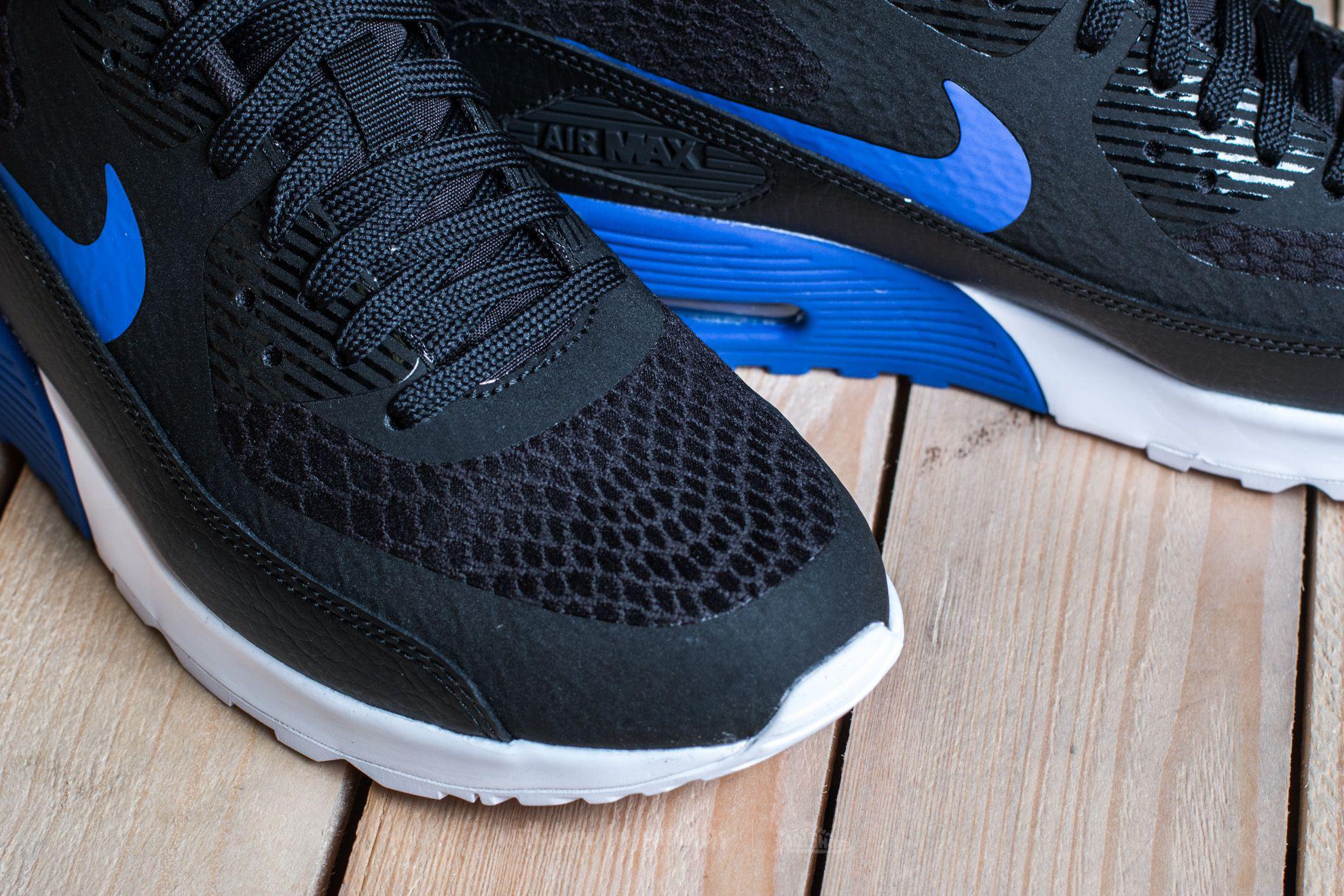 Lyst - Nike W Air Max 90 Ultra 2.0 Black  Paramount Blue-white in ... e154146b122f