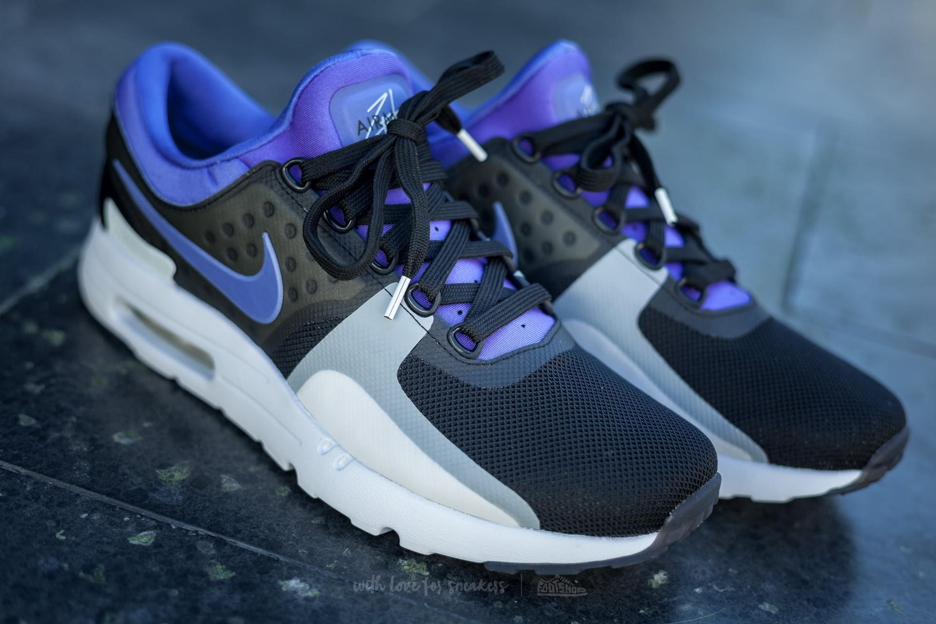 ... reduced lyst nike air max zero qs black persian violet white for men  535d4 97d66 ... e06dee26a