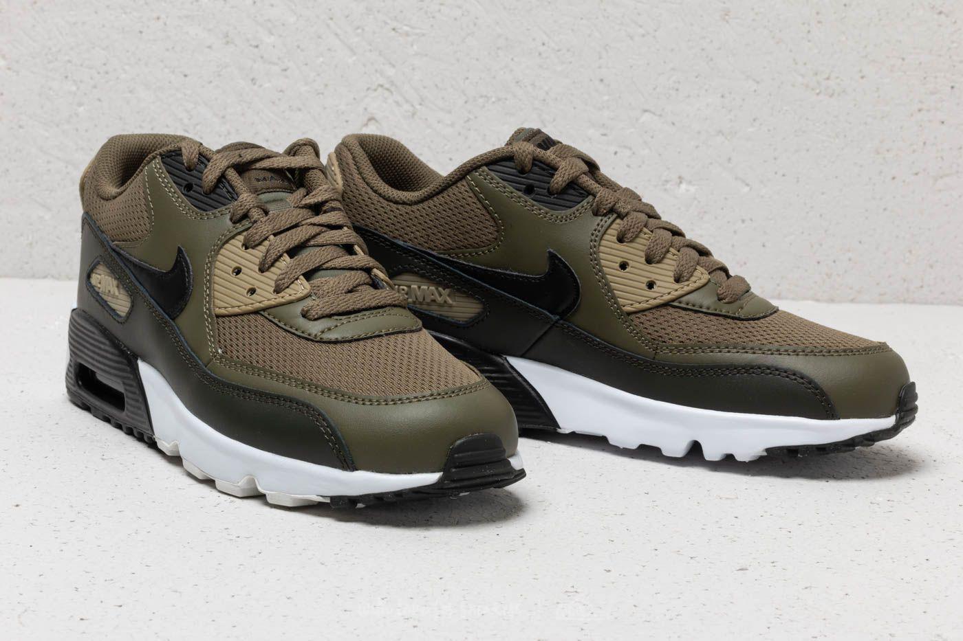 buy online 04a5c f5c30 Lyst - Nike Air Max 90 Mesh (gs) Medium Olive  Black-sequoia in Black
