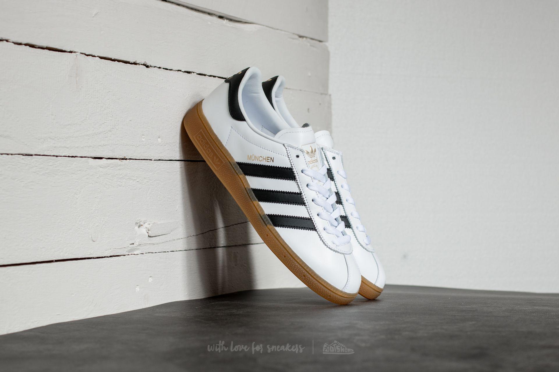 new product e815b d321a adidas Originals Adidas Munchen Ftw White  Core Black  Gum for Men ...