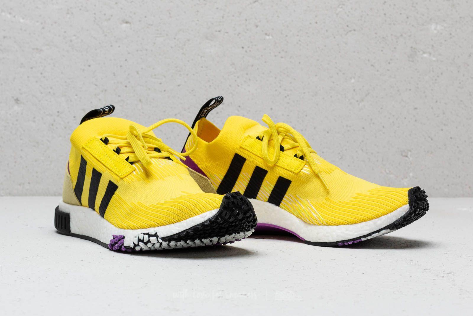 8d09866db4e41 Lyst - adidas Originals Adidas Nmd Racer Primeknit Solar Yellow ...