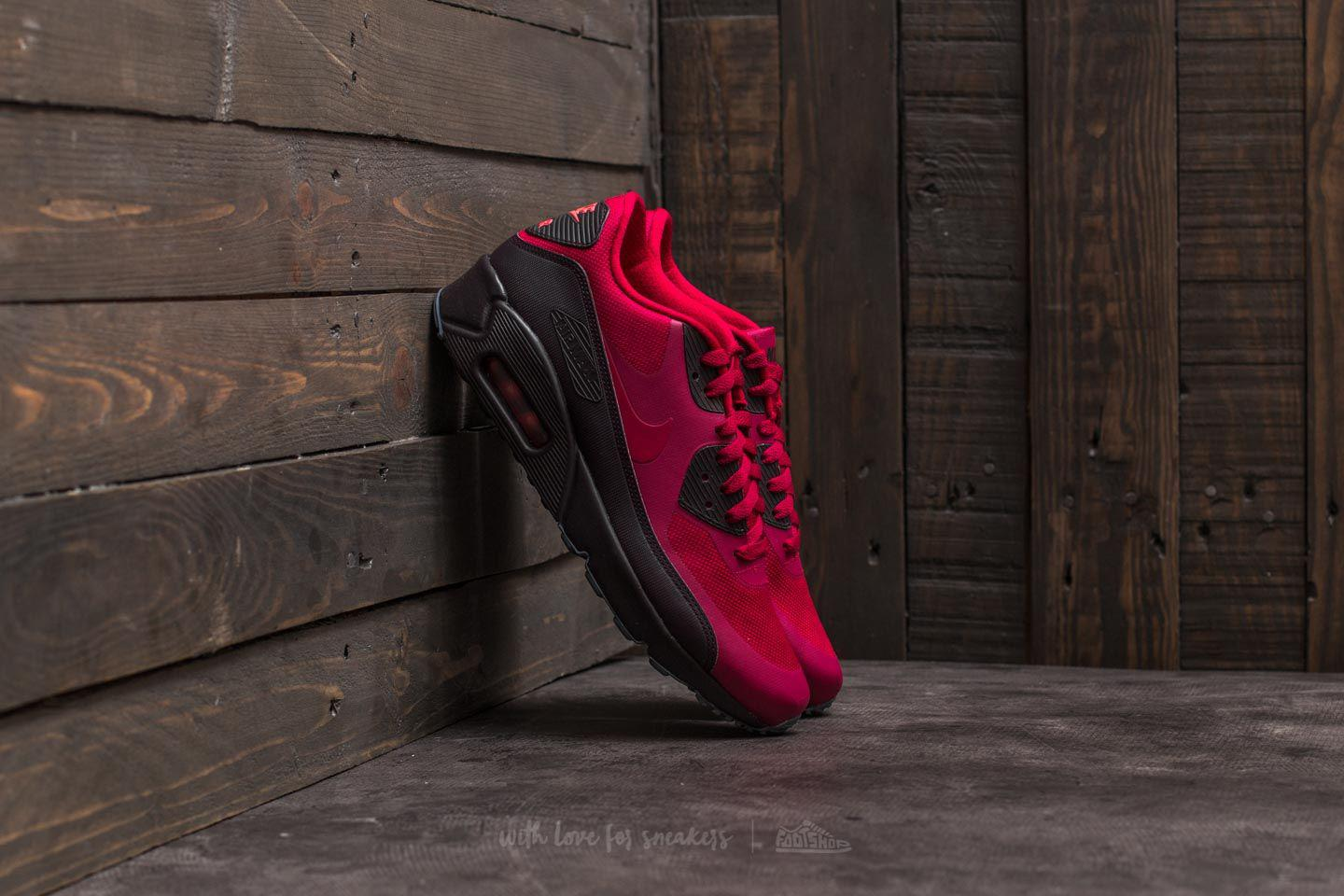nike air max 90 ultra red and black