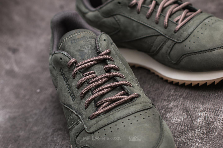c57898427b3 Lyst - Reebok Leather Ripple Wp Hunter Green  Urban Grey in Gray for Men
