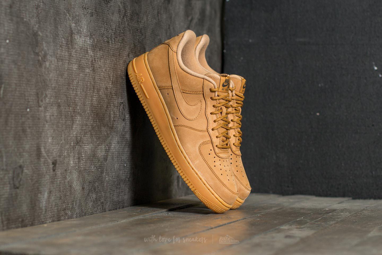 Lyst - Nike Air Force 1  07 Wb Flax  Flax-gum Light Brown in Brown ... 027c3e935