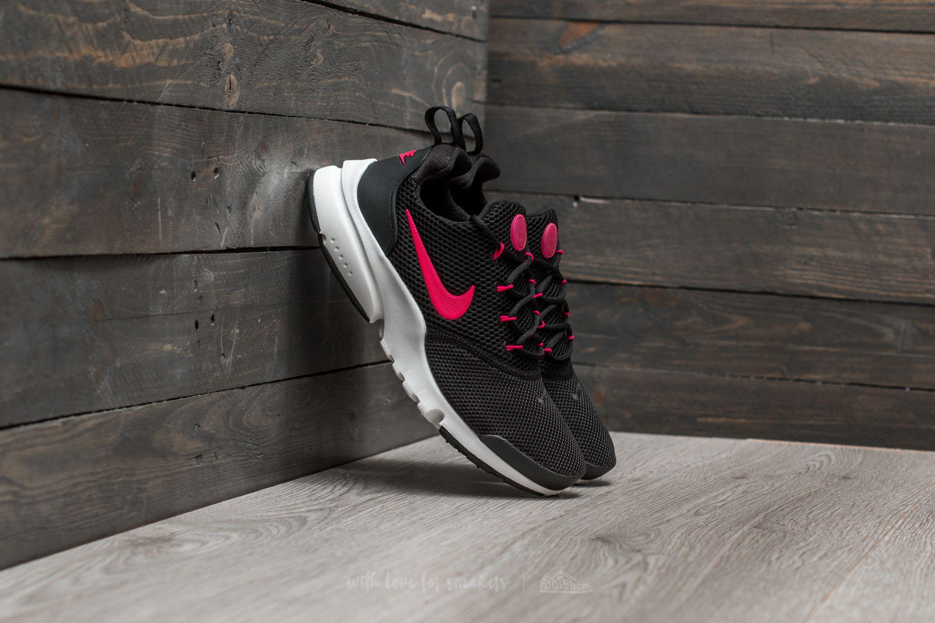 67b34f6a247a Lyst - Nike Presto Fly (gs) Black  Rush Pink-white
