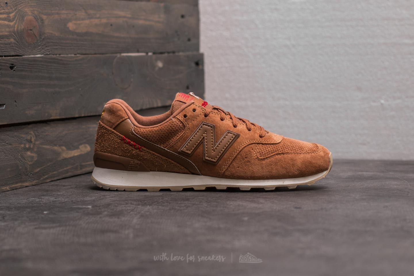 new style 49f30 7aa37 New Balance 996 Brown  White in Brown for Men - Lyst