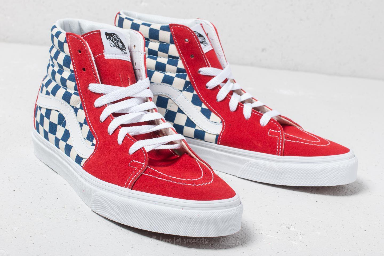3785bcf614 Lyst - Vans Sk8-hi (bmx Checkerboard) True Blue  Red in Red for Men