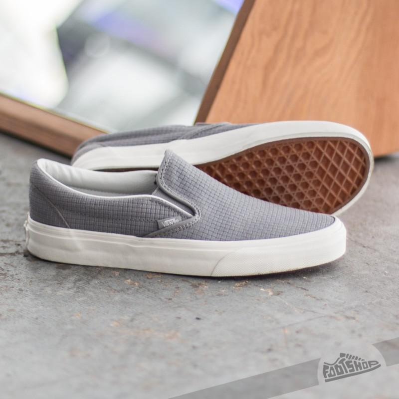 c80cb9cfaf Lyst - Vans Classic Slip-on Braided Suede Wild Dove in Gray