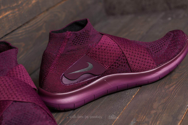 9f301af24909 Lyst - Nike W Free Rn Motion Flyknit 2017 Bordeaux  Black-dark ...