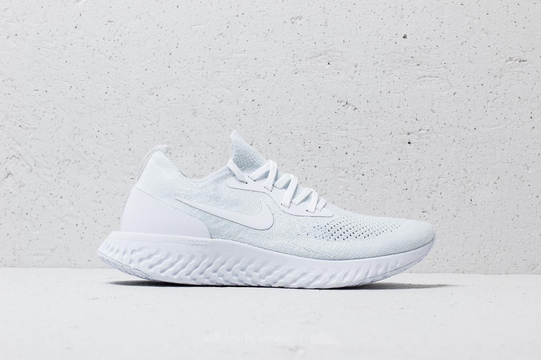 Nike - Epic React Flyknit True White  White-pure Platinum for Men - Lyst.  View fullscreen 100ab1c56
