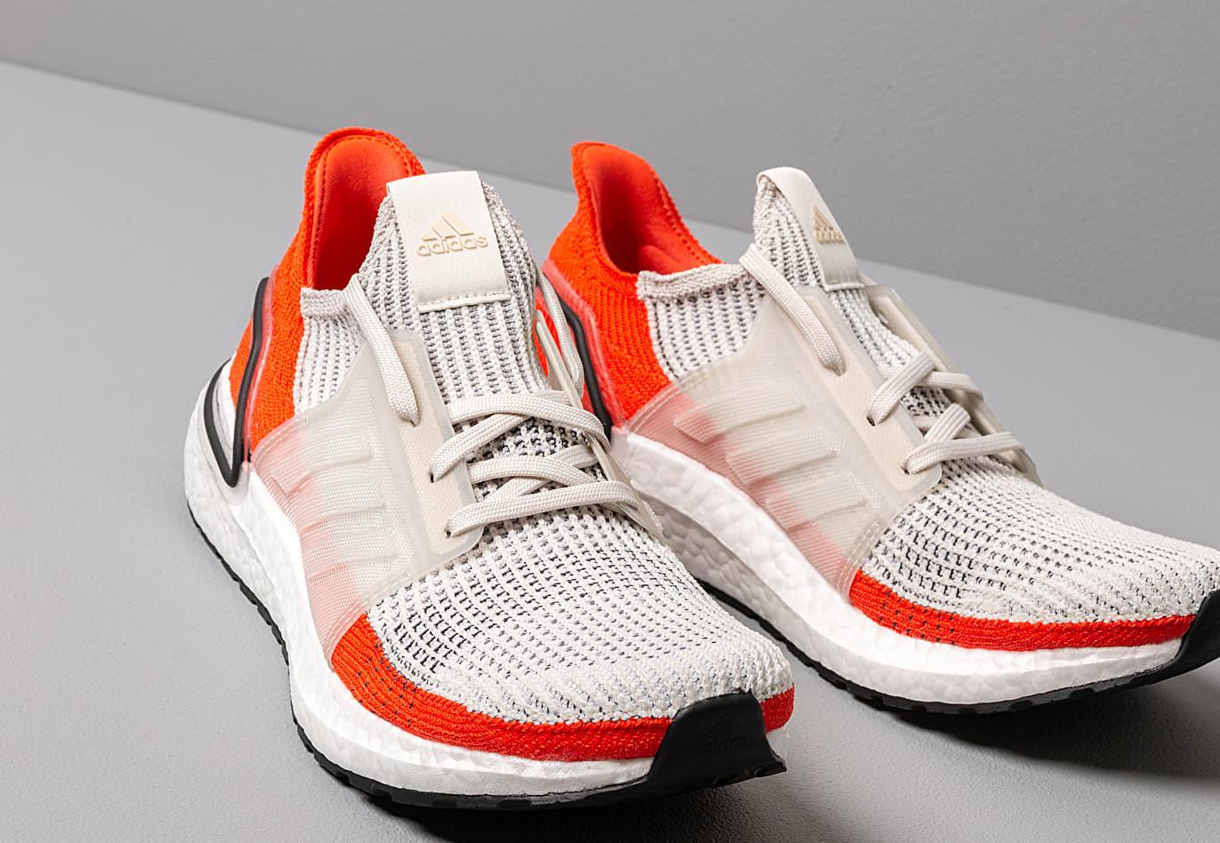 6e4bc57ba Adidas Originals - Adidas Ultraboost 19 Raw White  Ftw White  Active Orange  for Men. View fullscreen