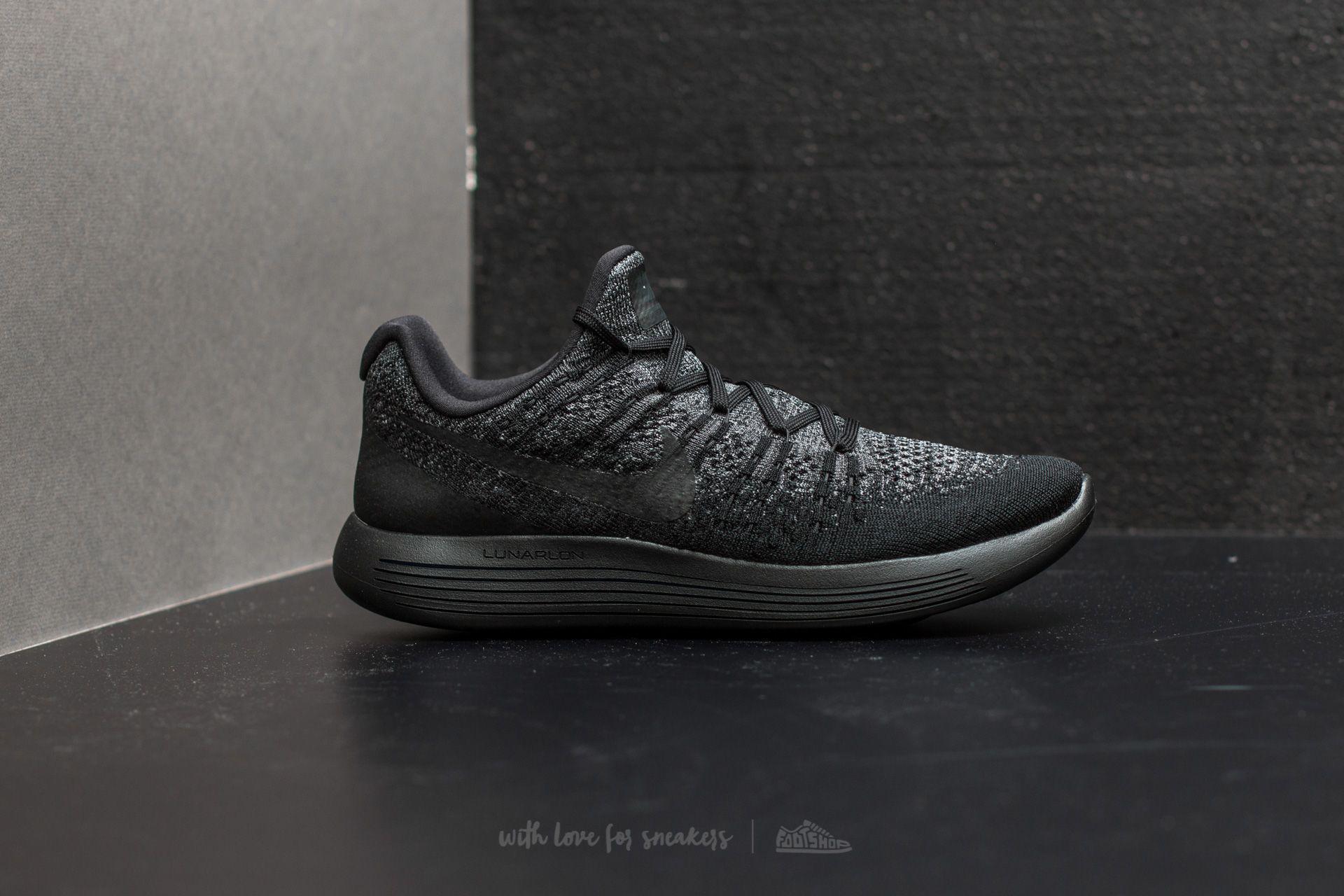 0364d576c8b Lyst - Nike Lunarepic Low Flyknit 2 Black  Black-dark Grey in Black ...