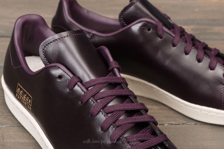 80dca743bcf Lyst - adidas Originals Adidas Superstar 80s Clean Noble Red  Noble ...