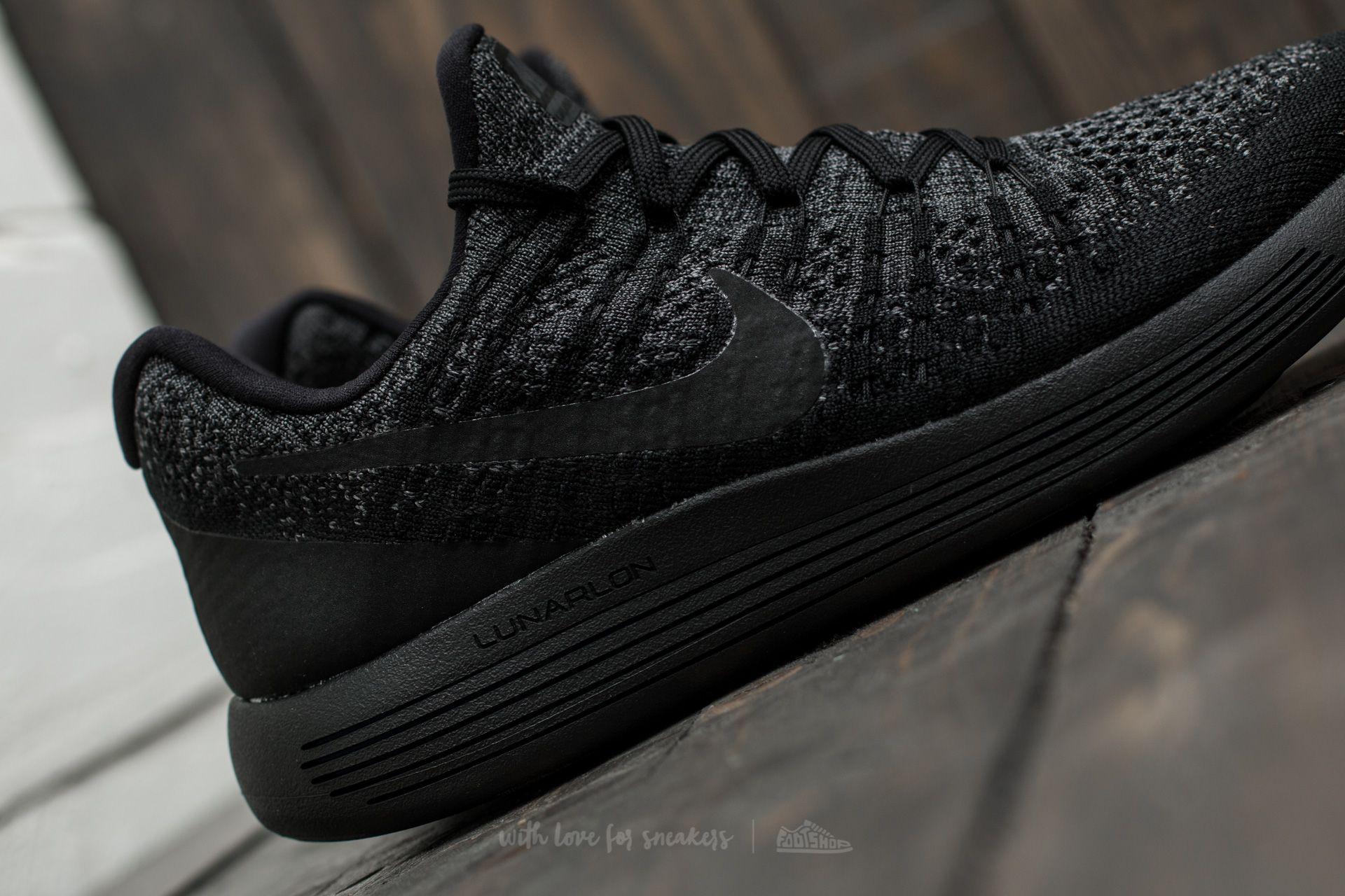 48ac65347a3 Lyst - Nike Lunarepic Low Flyknit 2 W Black  Black-dark Grey in Black