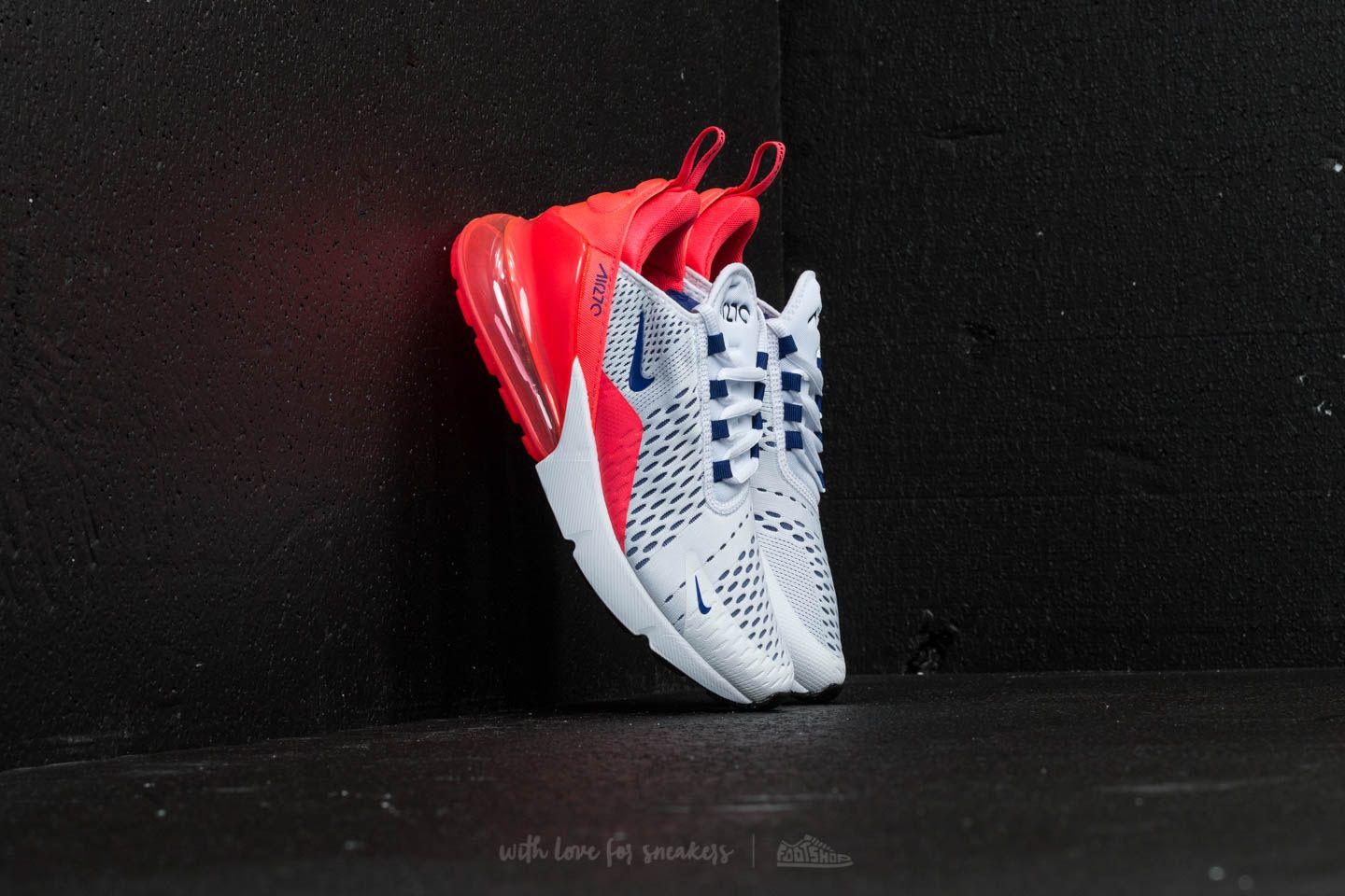 84b66fb442f8 Lyst - Nike Air Max 270 W White  Ultramarine-solar Red in Red for Men