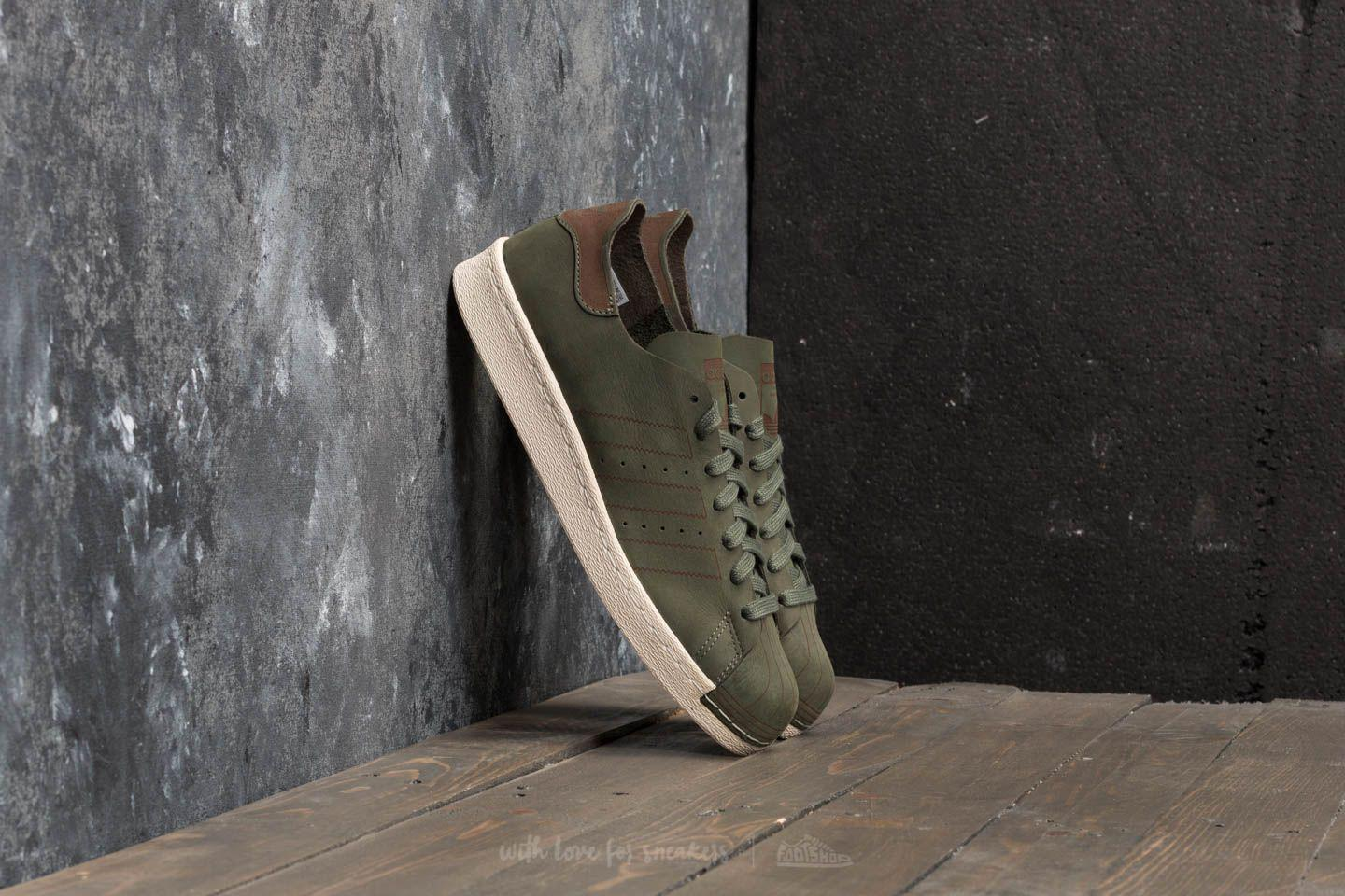 adidas Superstar 80s Decon Base Green/ Base Green/ Noble Red