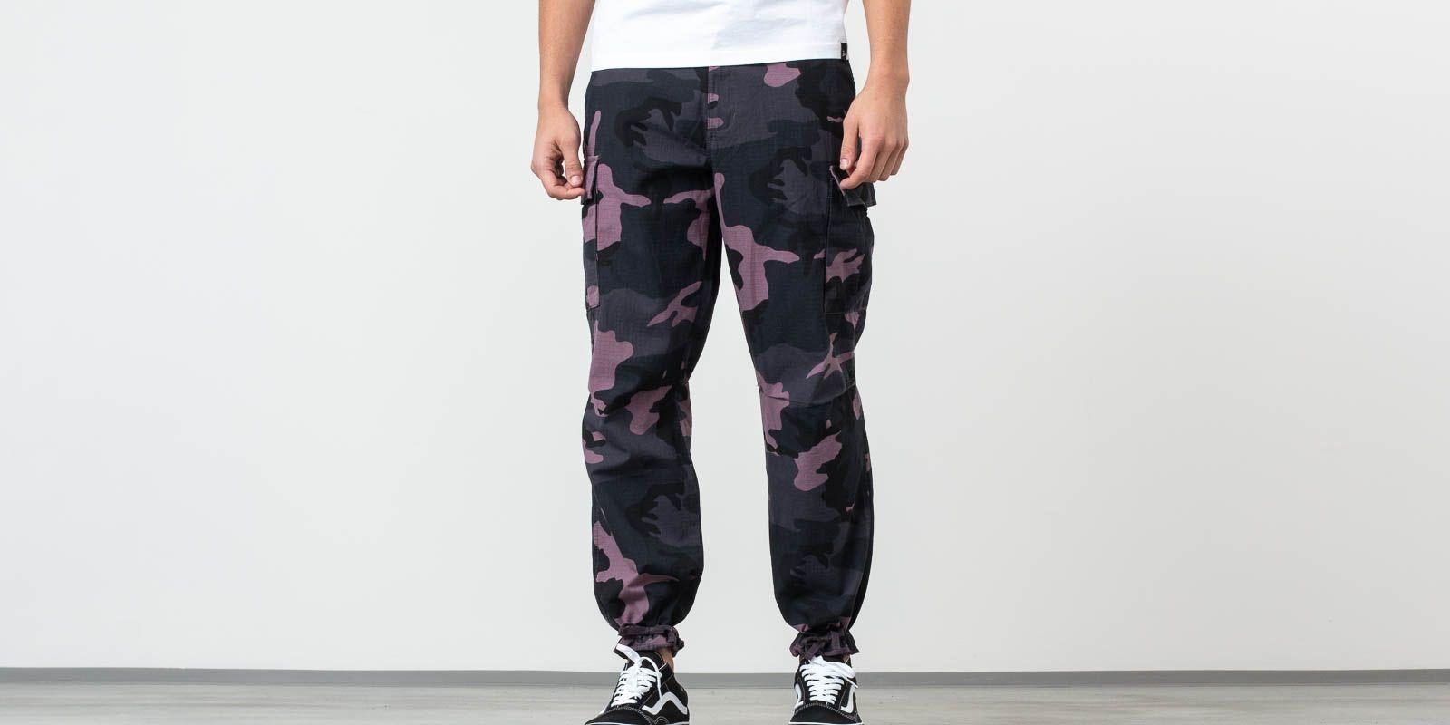 cdd8369d96874 Vans Depot Oversized Cargo Pant Black Plum Camo in Black for Men - Lyst