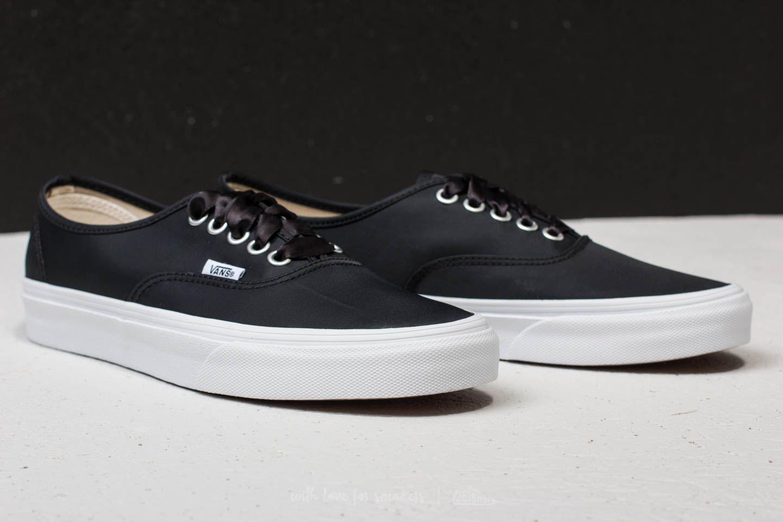 1ce269106e Lyst - Vans Authentic (satin Lux) Black  True White in Black