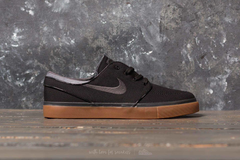 2c9cd4f2fb82 best Nike Sb Zoom Stefan Janoski Black Anthracite Gum Canvas Shoe ...