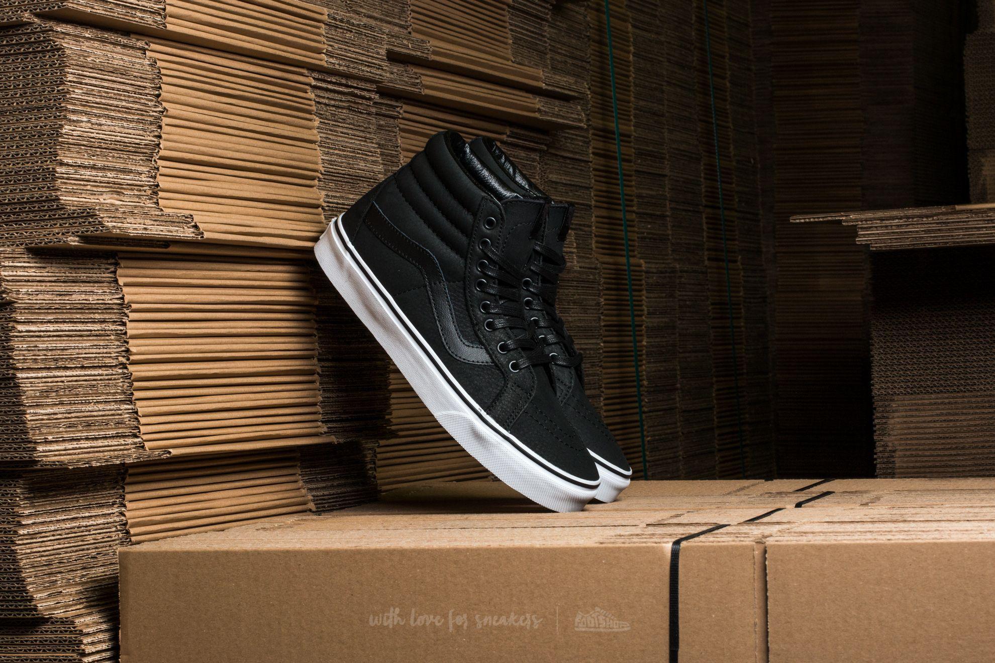 1aa5d55b59 Lyst - Vans Sk8-hi Reissue (premium Leather) Black  True White in ...