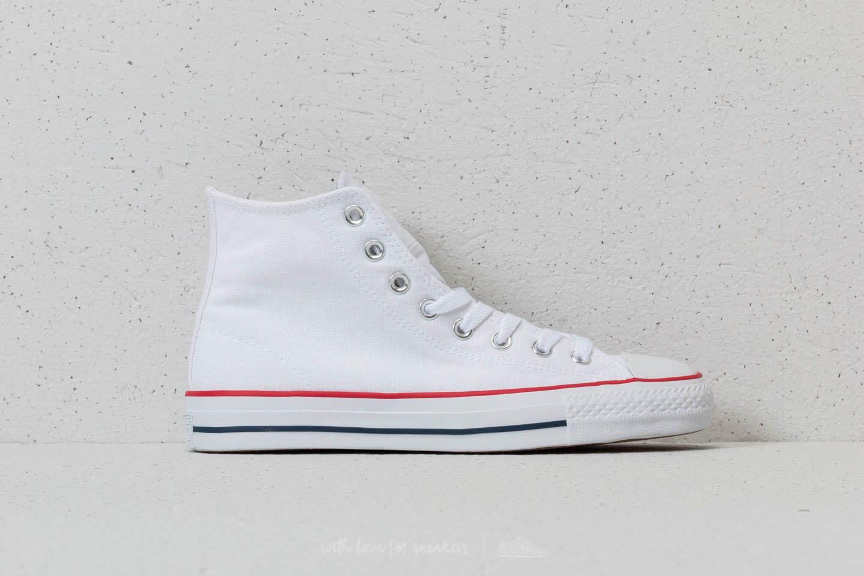Lyst - Converse Chuck Taylor All Star Hi White  Red  Insignia Blue ... 063b4a1c3