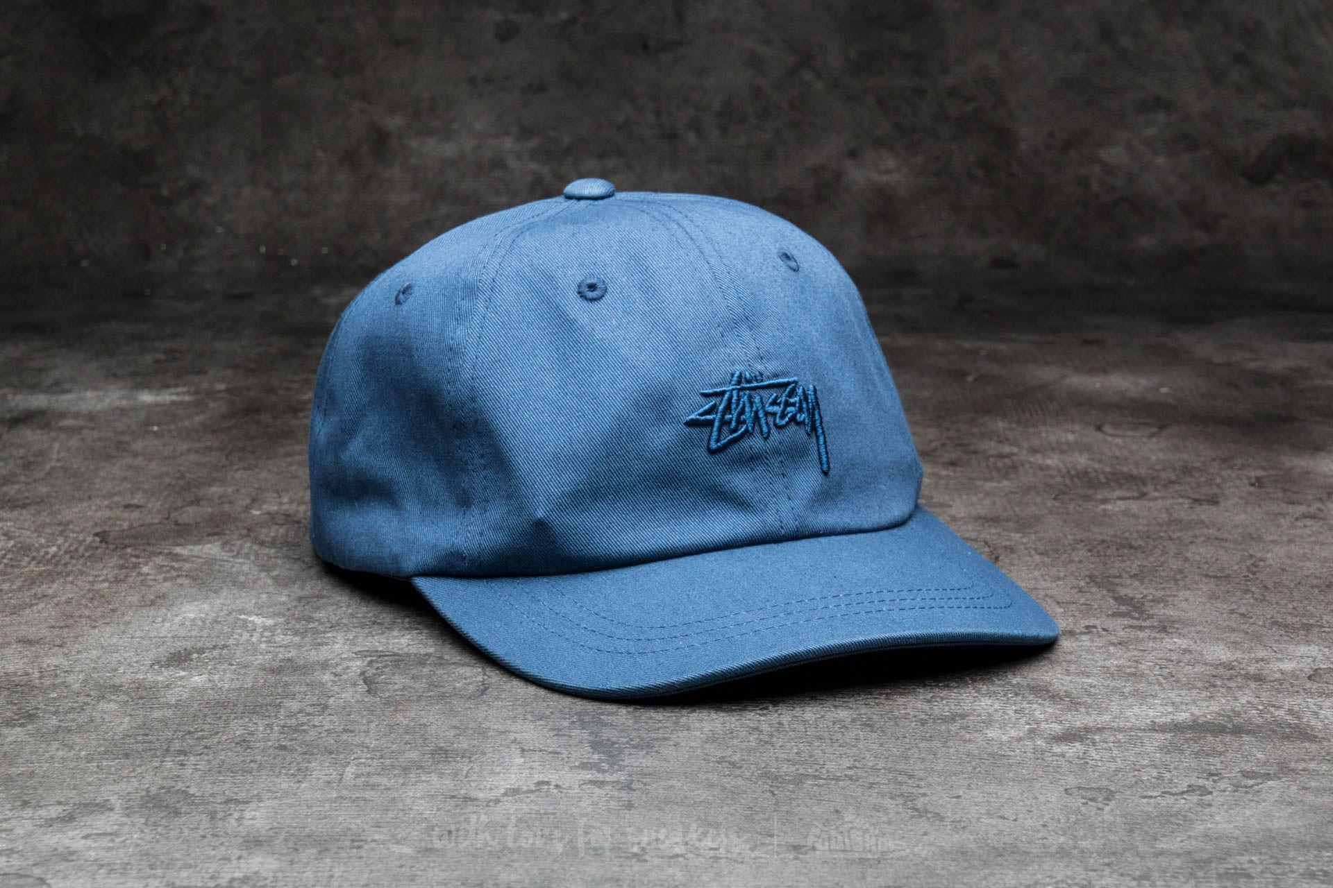 3ca1583354c958 ... spain lyst stussy tonal stock low cap navy in blue for men 987fb a0e92