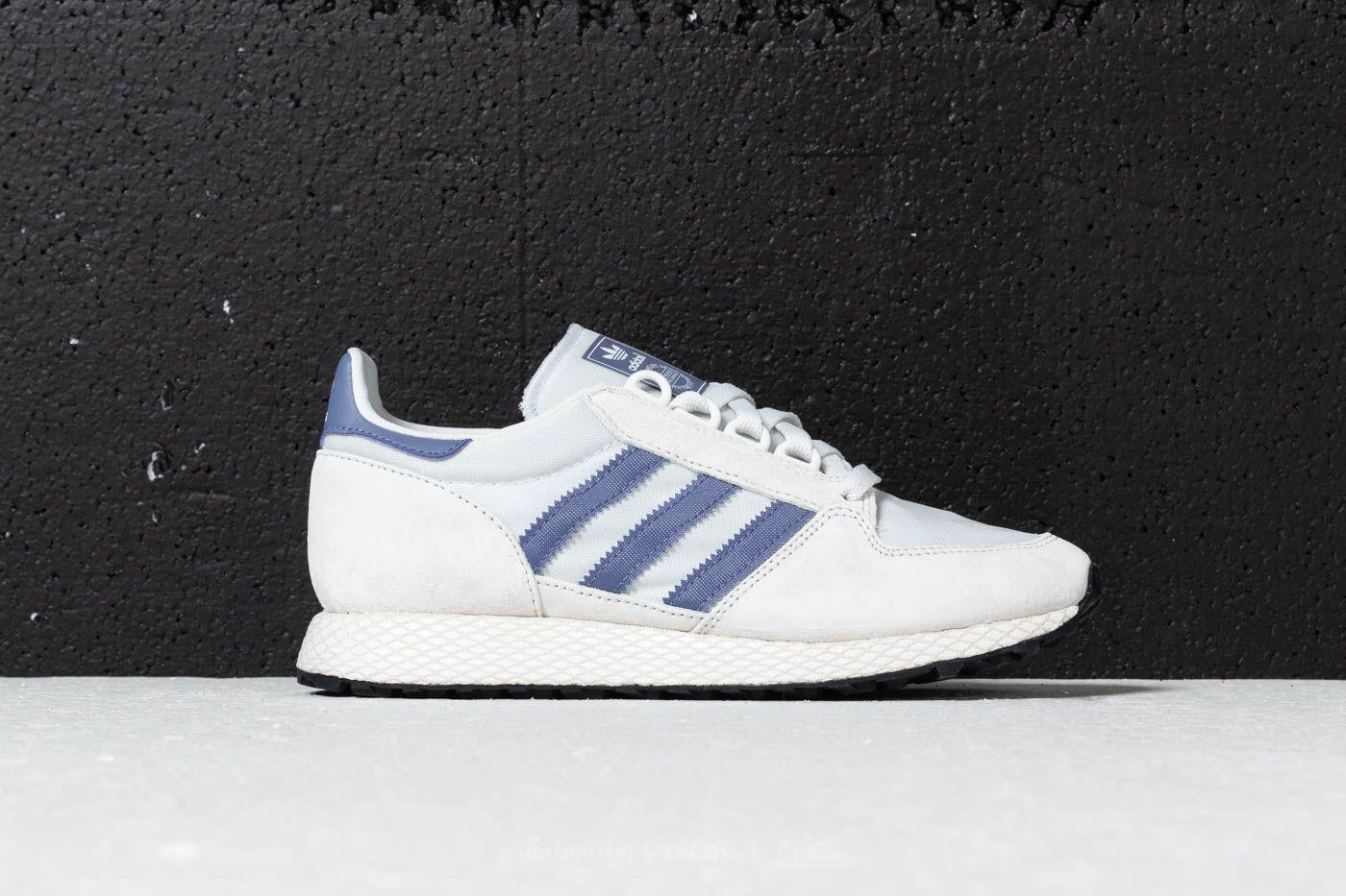 adidas Originals FOREST GROVE - Trainers - crystal white/cloud white/core black sldZ4JXa4
