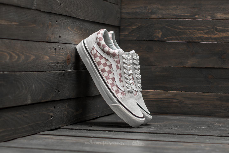 vans anaheim old skool sneakers in lilac check