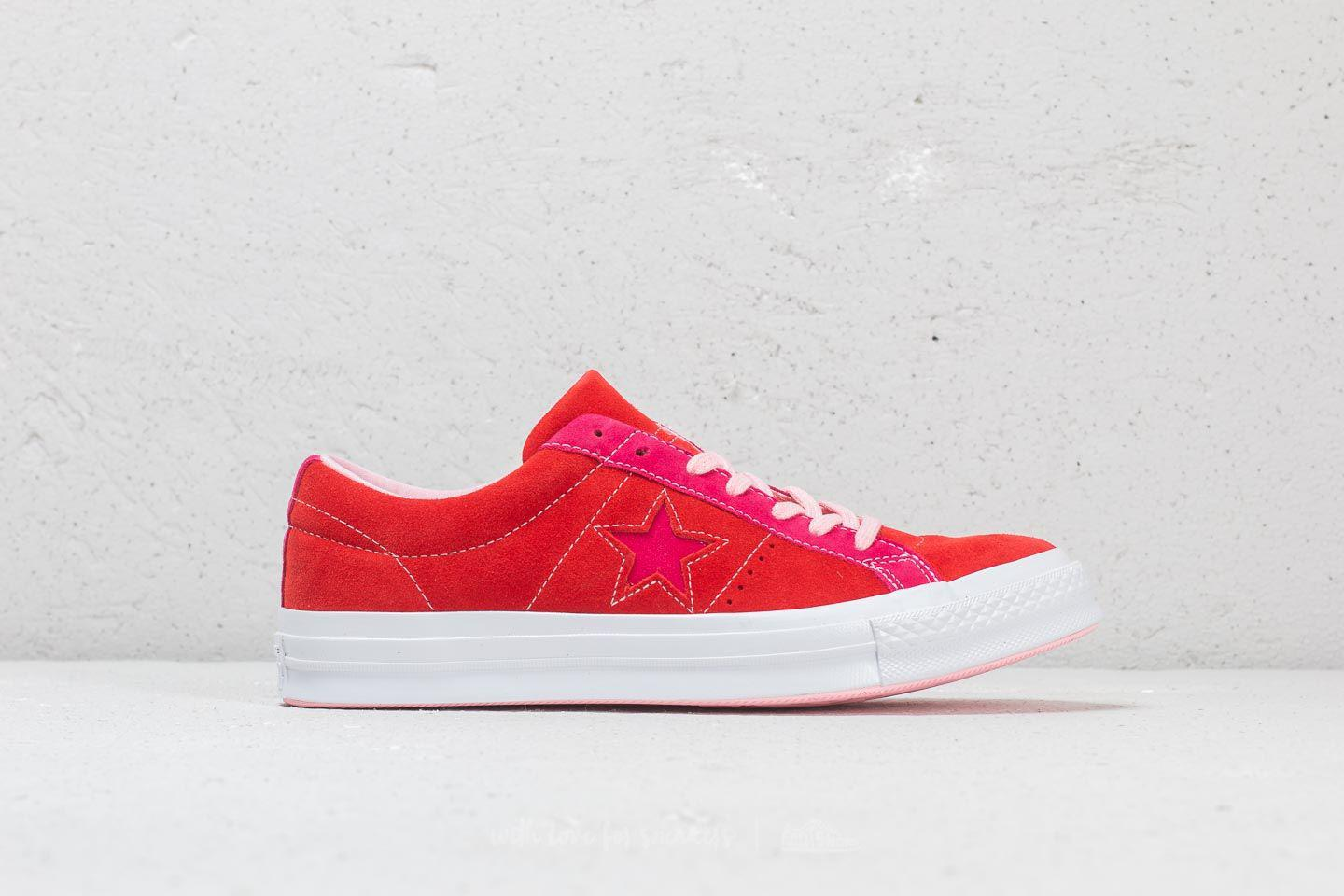Lyst - Converse One Star Ox Enamel Red  Pink Pop in Pink for Men b7a212f3c
