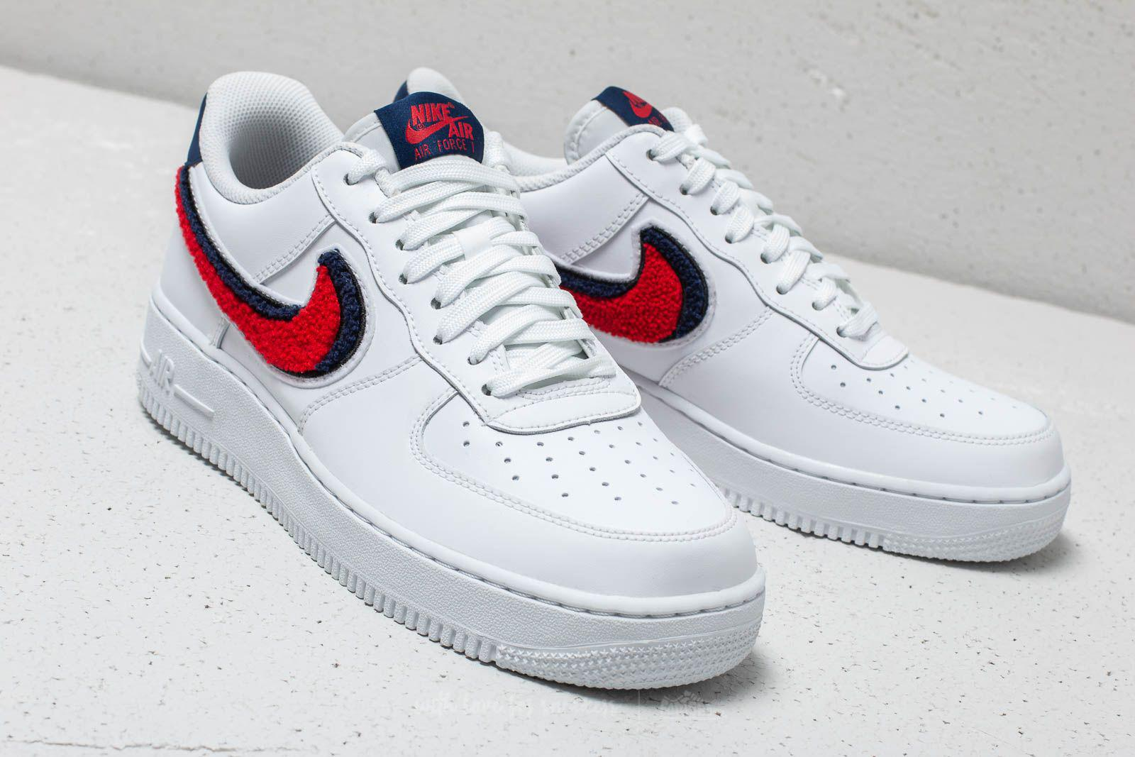 new product 04303 6e461 Nike Air Force 1 ́07 Lv8 White  University Red-blue Void in White ...