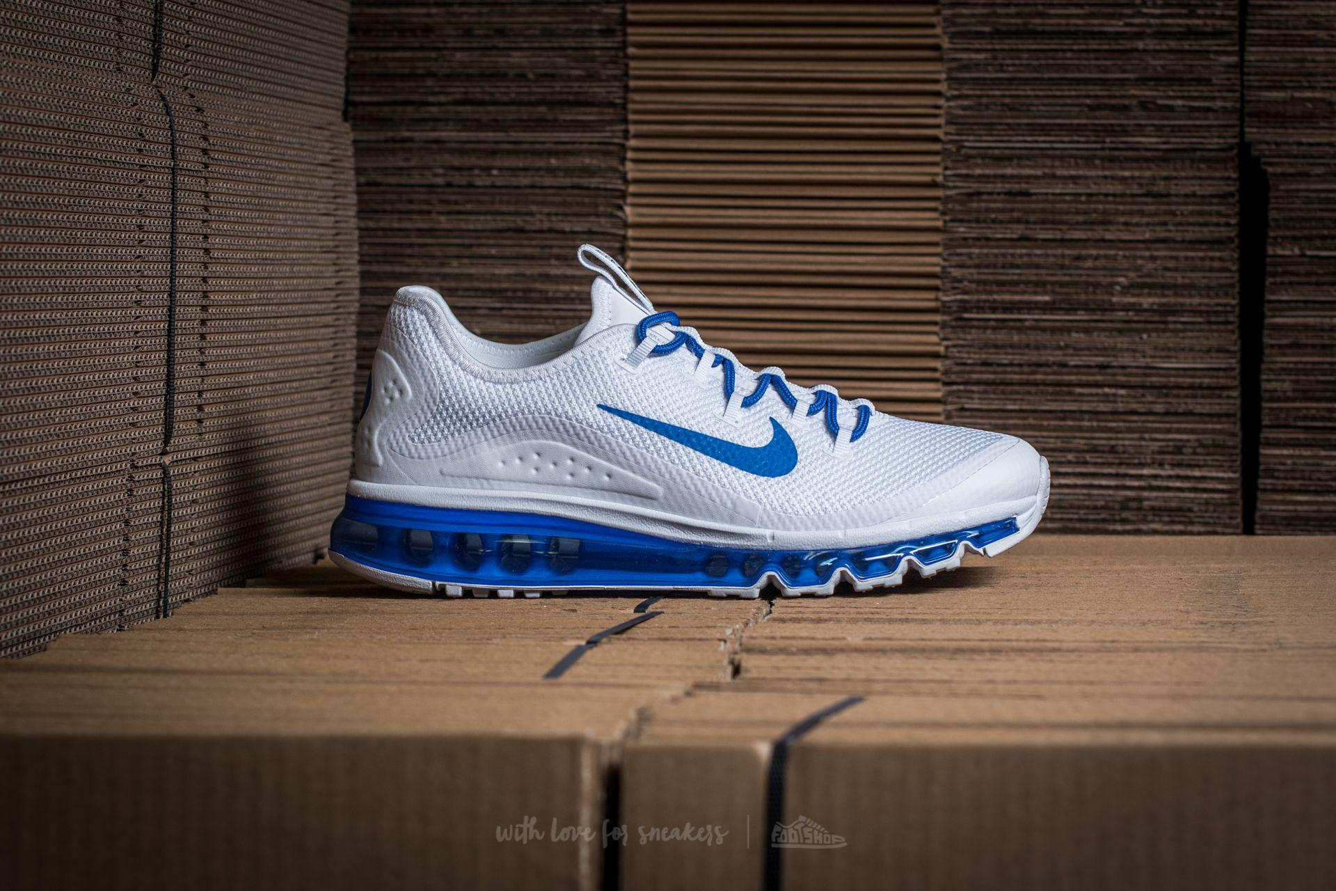 9cc4316ebed Lyst - Nike Air Max More White  Game Royal-white in White for Men