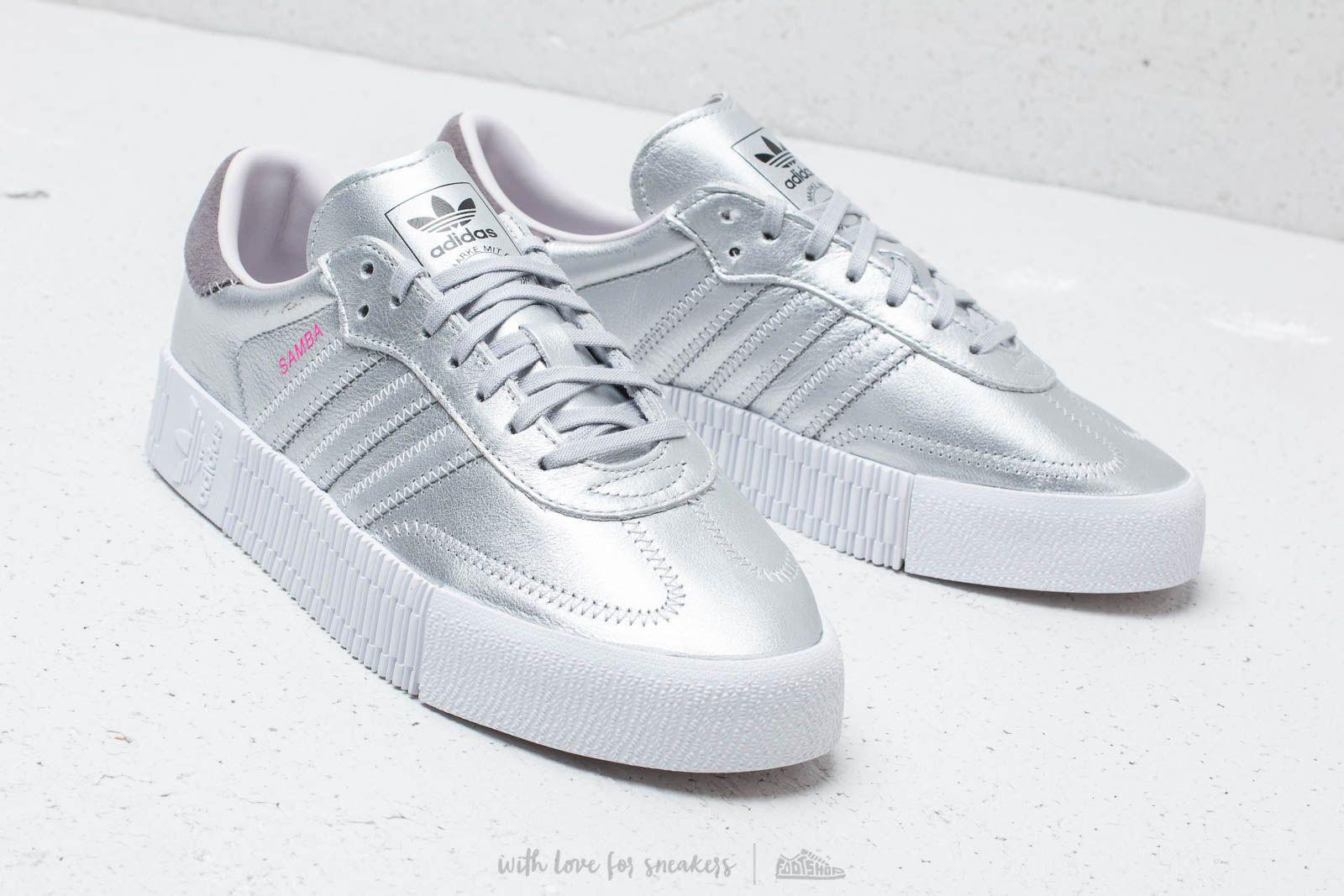 Lyst - adidas Originals Adidas Sambarose W Silver Metallic  Silver ... 5e98a4faf