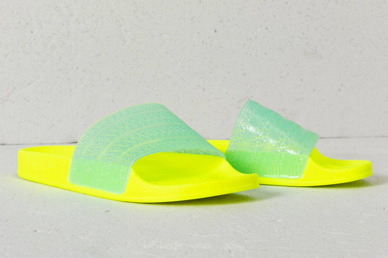 67a0f788df7 Lyst - adidas Originals Adidas Adilette Lilo W Solar Yellow  Clear ...