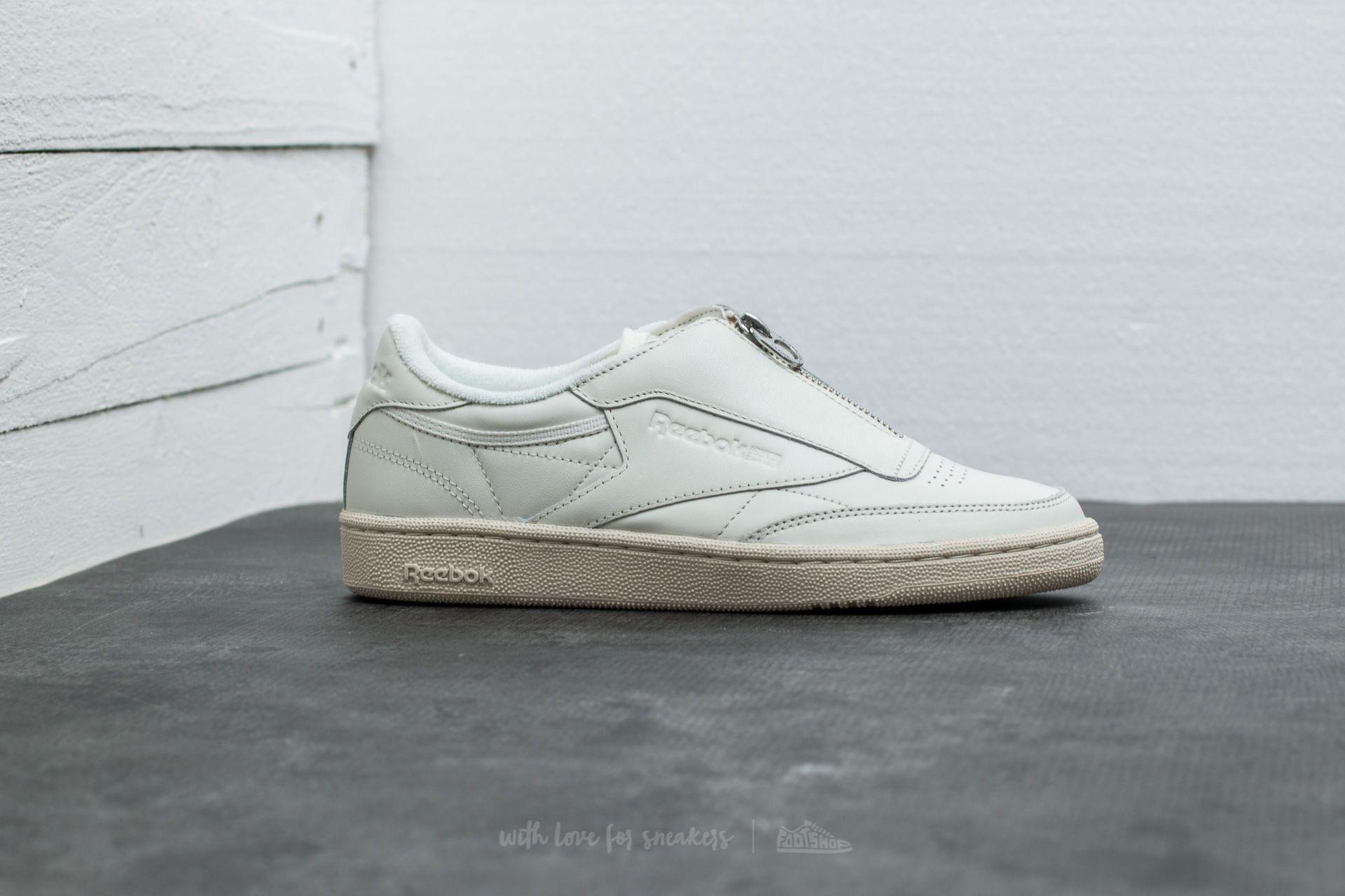 fc46688c5f1 Lyst - Reebok Club C 85 Zip Chalk  Sandstone  White  Silver