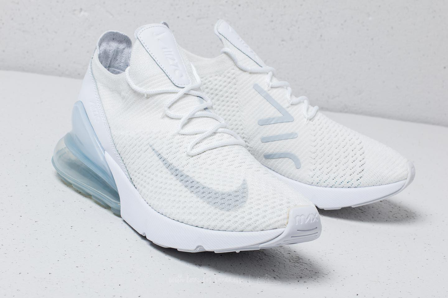 67845e27ac Nike Air Max 270 Flyknit White/ Pure Platinum-white in White for Men ...