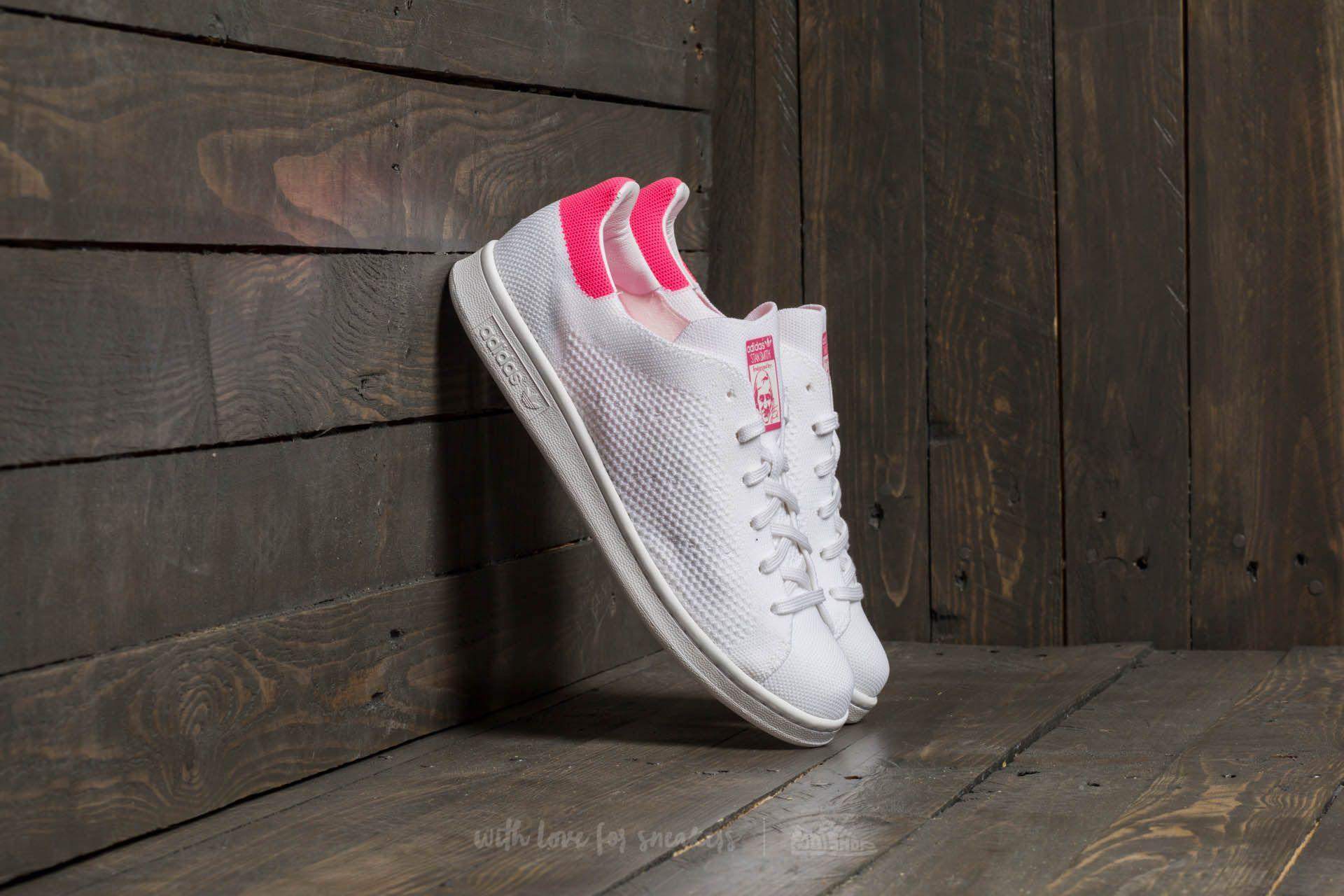 Lyst adidas Originals Adidas Stan Smith primeknit FTW blanco / ultra Pop