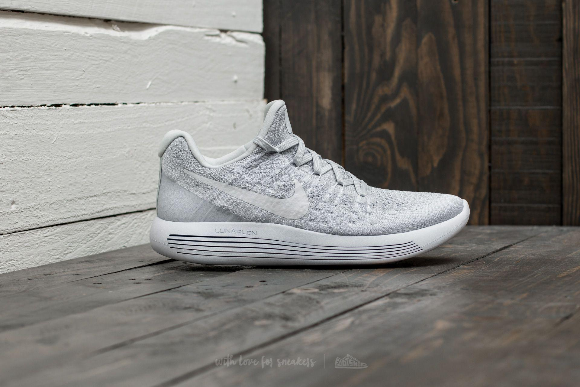 72907a70327 ... good lyst nike lunarepic low flyknit 2 w white white pure platinum in  7bfff a95f8
