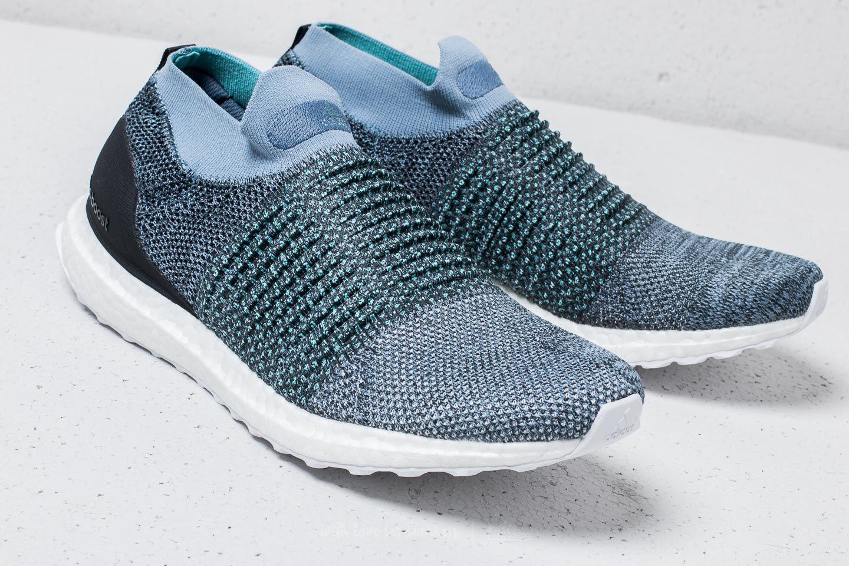 big sale 2038c 07a4c Footshop Adidas X Parley Ultraboost Laceless Raw Grey/ Carbon/ Blue ...