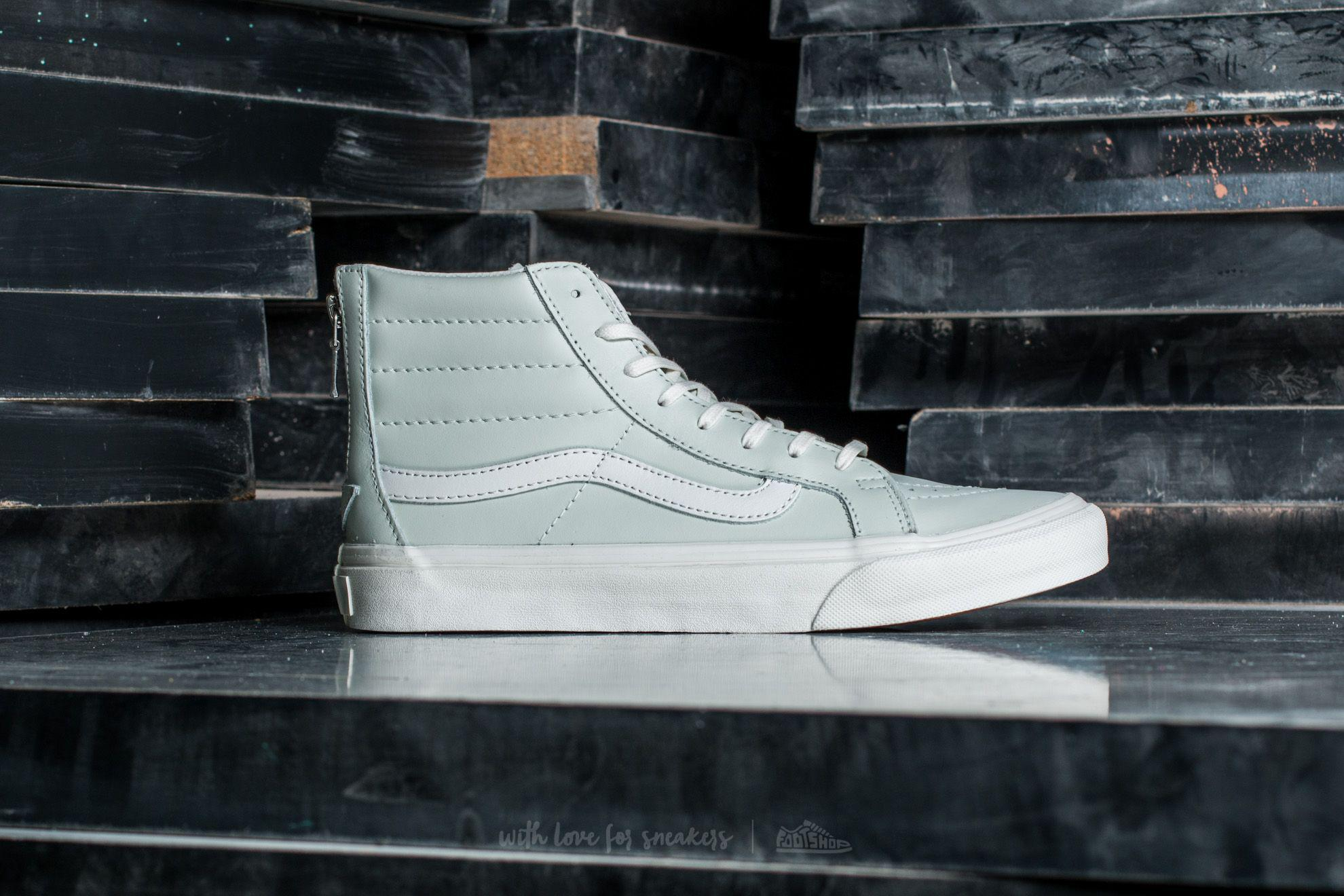 ad2444c7269e1c Lyst - Vans Sk8-hi Slim Zip Leather Zephyr Blue  Blanc De Blanc in Blue