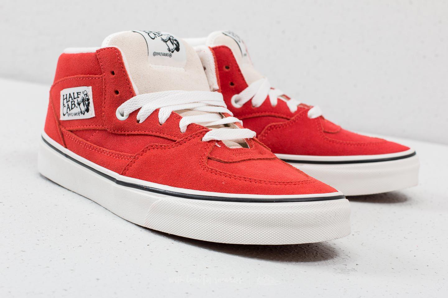 cc33199508dd Lyst - Vans Half Cab (suede) Hibiscus  True White in White for Men