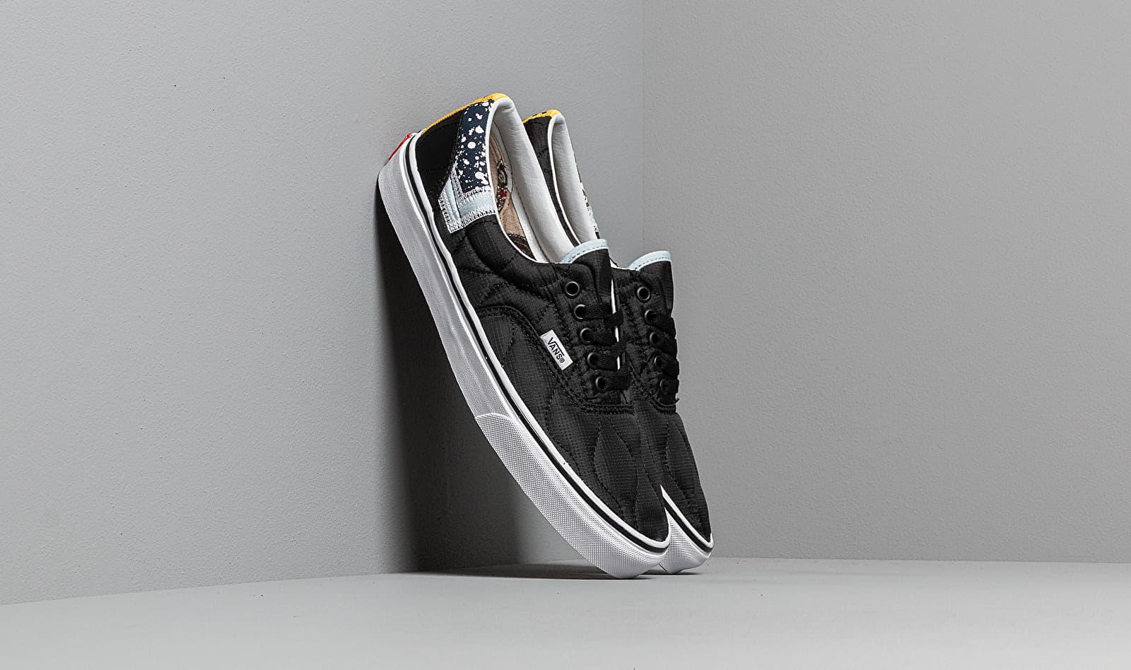 a6a203e8a54 Vans Era (mixed Quilting) Black/ True White in Black - Lyst