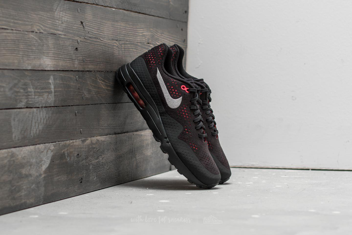 new arrival 496b7 bb425 Lyst - Nike Air Max 1 Ultra 2.0 Moire Black  Wolf Grey-solar Red for Men