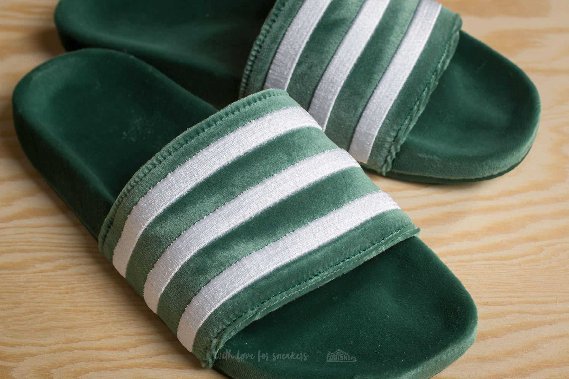 be283cbe5ce8 Lyst - adidas Originals Adidas Adilette Core Green  Ftw White  Ftw ...