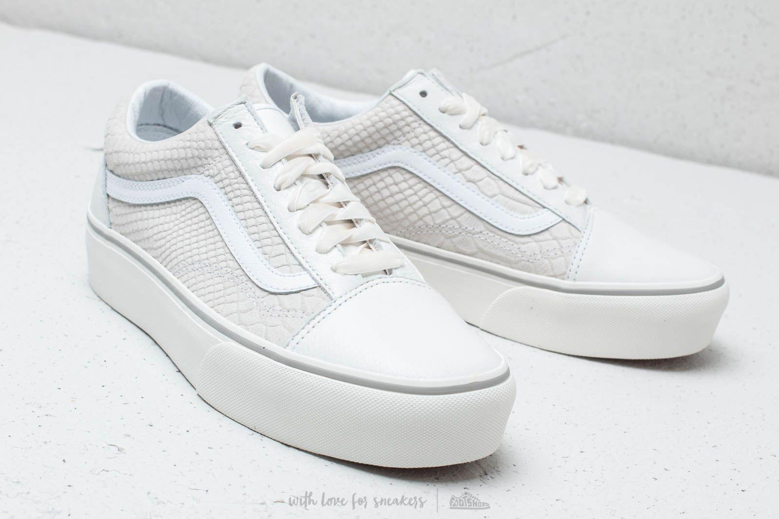 24fe1f6ebe3 Lyst - Vans Old Skool Platform (leather) Snake  White in White for Men