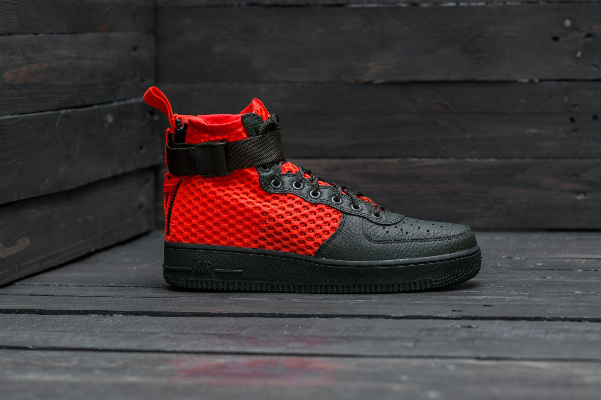 d5ccde77bd40 Nike Sf Air Force 1 Mid Qs Cargo Khaki  Total Crimson for Men - Lyst